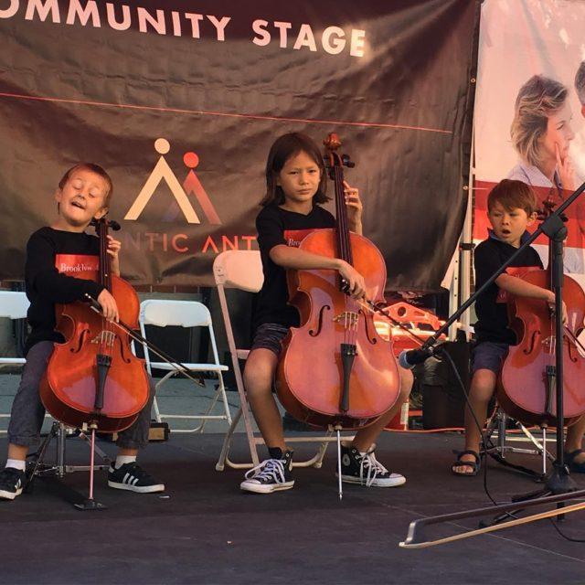 Three of our fantastic Suzuki cello students take the communityhellip