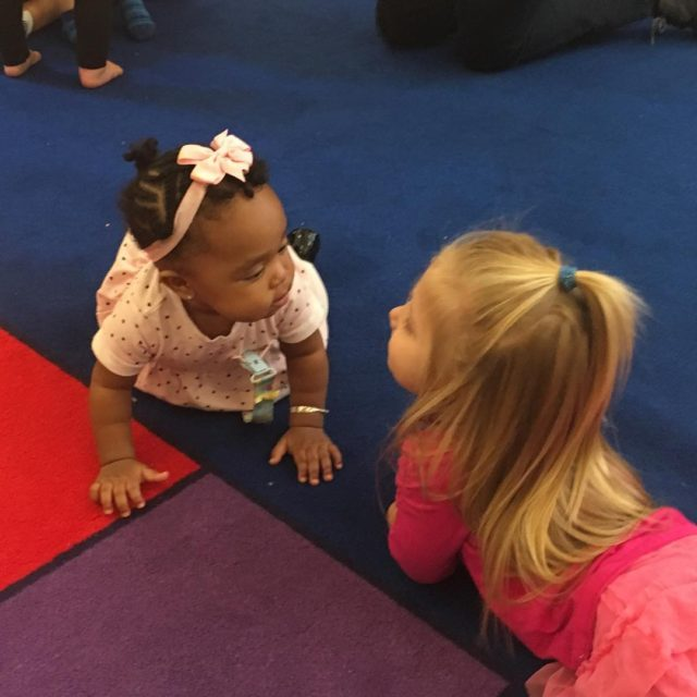 Two sweet attendees of our toddler music class being broadcasthellip