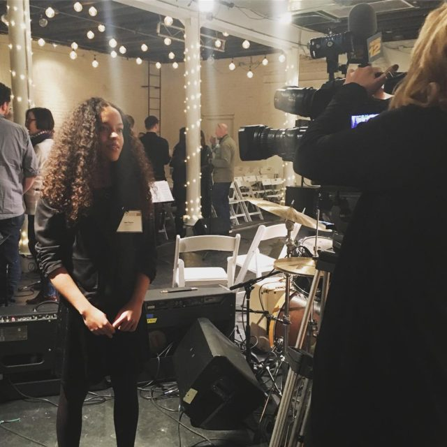 Our talented bassist Jem being interviewed for news12bk after Amyhellip
