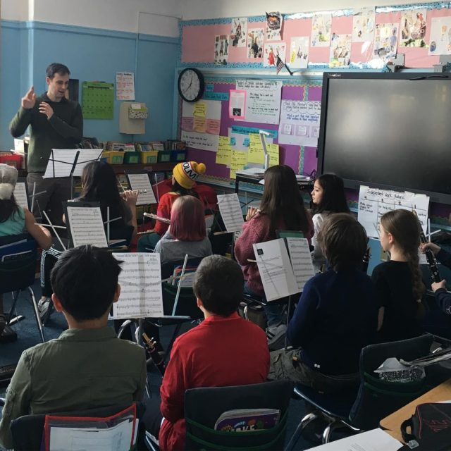 Visiting our MusicPartner school PS29 today checking out band sectionals!hellip