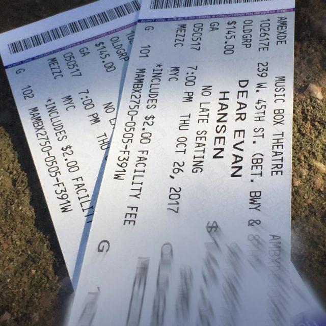 These dearevanhansen tickets could be YOURS! Were raffling off ticketshellip