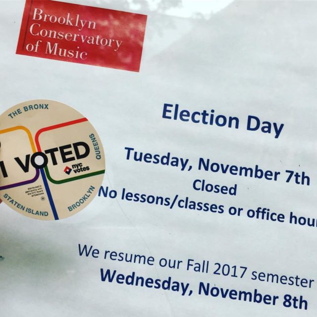 No lessons or classes at BKCM today for Election Day!hellip